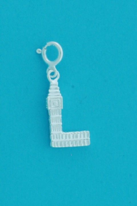 Genuine 925 Sterling Silver Clip On London Houses of Parliament & Big Ben Charm